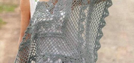 Chal Crochet Gris