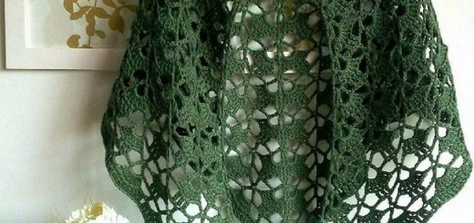 Chal Mariposa Crochet