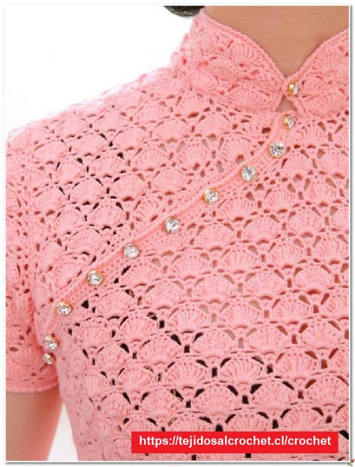 Detalle Crochet para Blusas