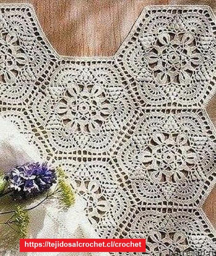 Hexagonal para prendas Crochet