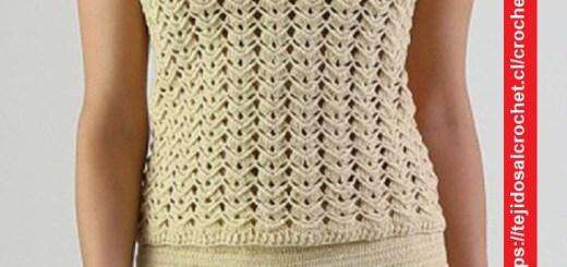 Polera Crochet en Crudo
