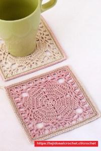 Posa Tazas Crochet