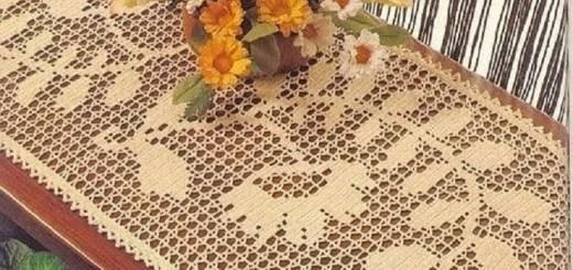 Tapetes Hojas Crochet