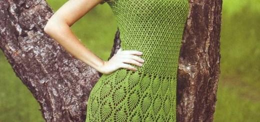 Vestido Verde Crochet