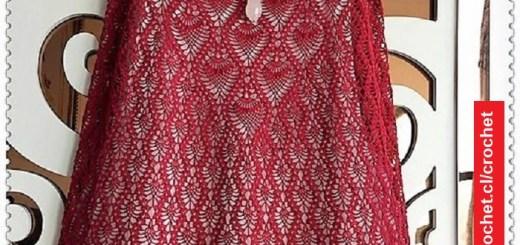Vestido de piñas crochet