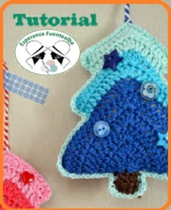 Adornos navideños de crochet