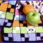 Agarraderas de cocina. Modelo Tablón Crochet novedoso