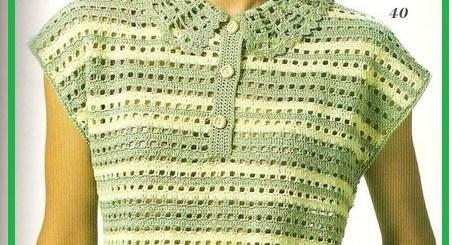 Blusa tejida a gancho