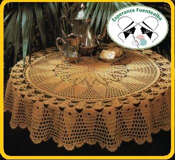 Crochet manteles patrones
