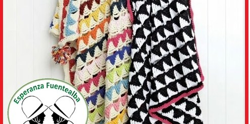 Mantas crochet patrones
