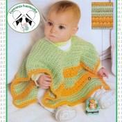 Ponchos tejidos para niños