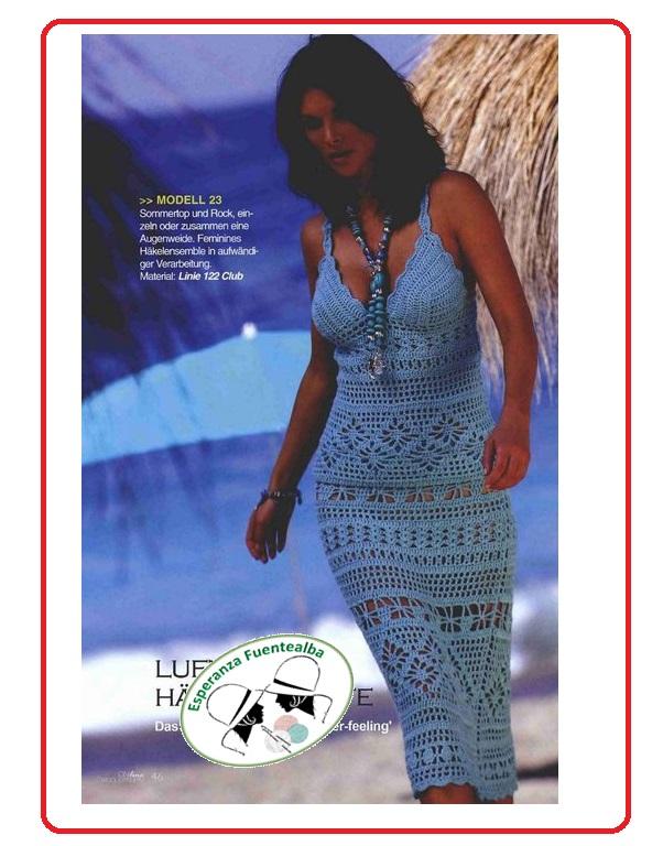 vestido ganchillo playa