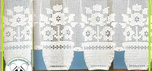 Cortinas cocina crochet