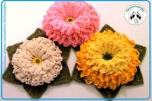 Flores a crochet paso a paso