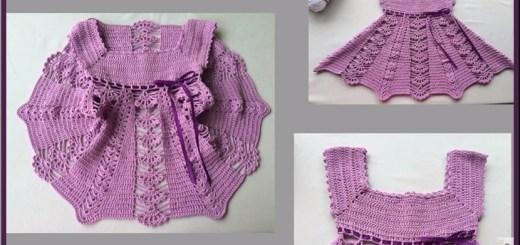 Vestidos de niña en crochet