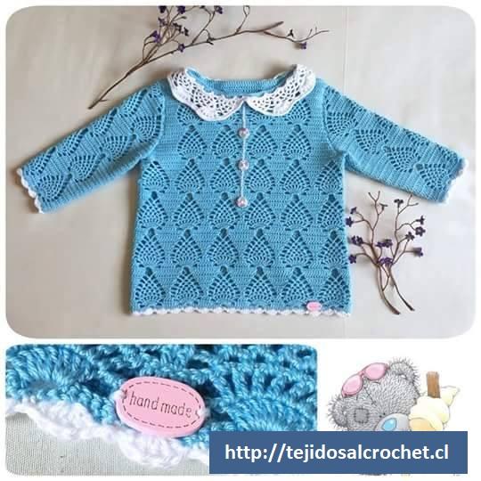 Camisón bebé a crochet