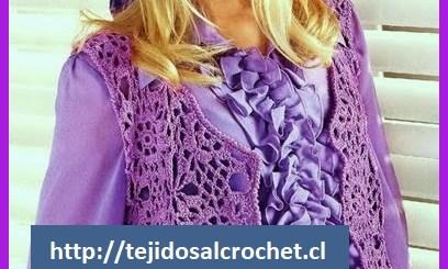 Chalecos tejidos a crochet paso a paso