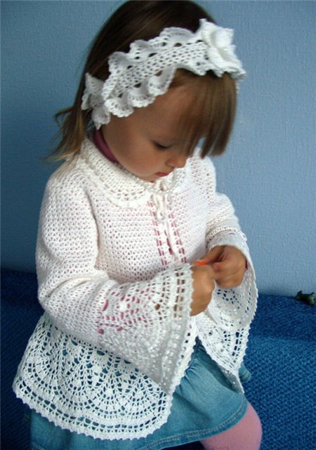 Chalecos tejidos para niña