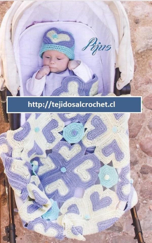 Colchitas para bebe tejidas en crochet