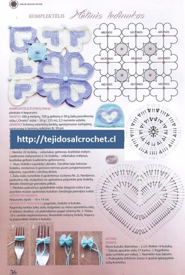 Colchitas para bebe tejidas en crochet1