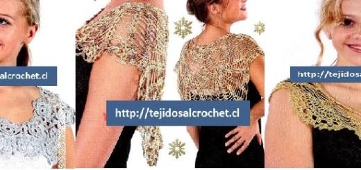 Cuellos tejidos a crochet paso a paso