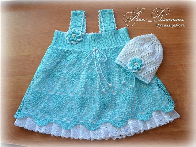 Patrones crochet bebe. Un lindo ajuar para niñitas tejido en crochet