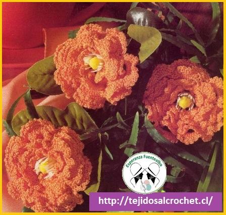 Patrones de flores a crochet7