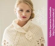 Ponchos tejidos a crochet. Un hermoso diseño de poncho en crochet