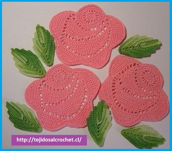 Rosas a crochet patrones. No deje de tejer esta rosa es muy sencilla