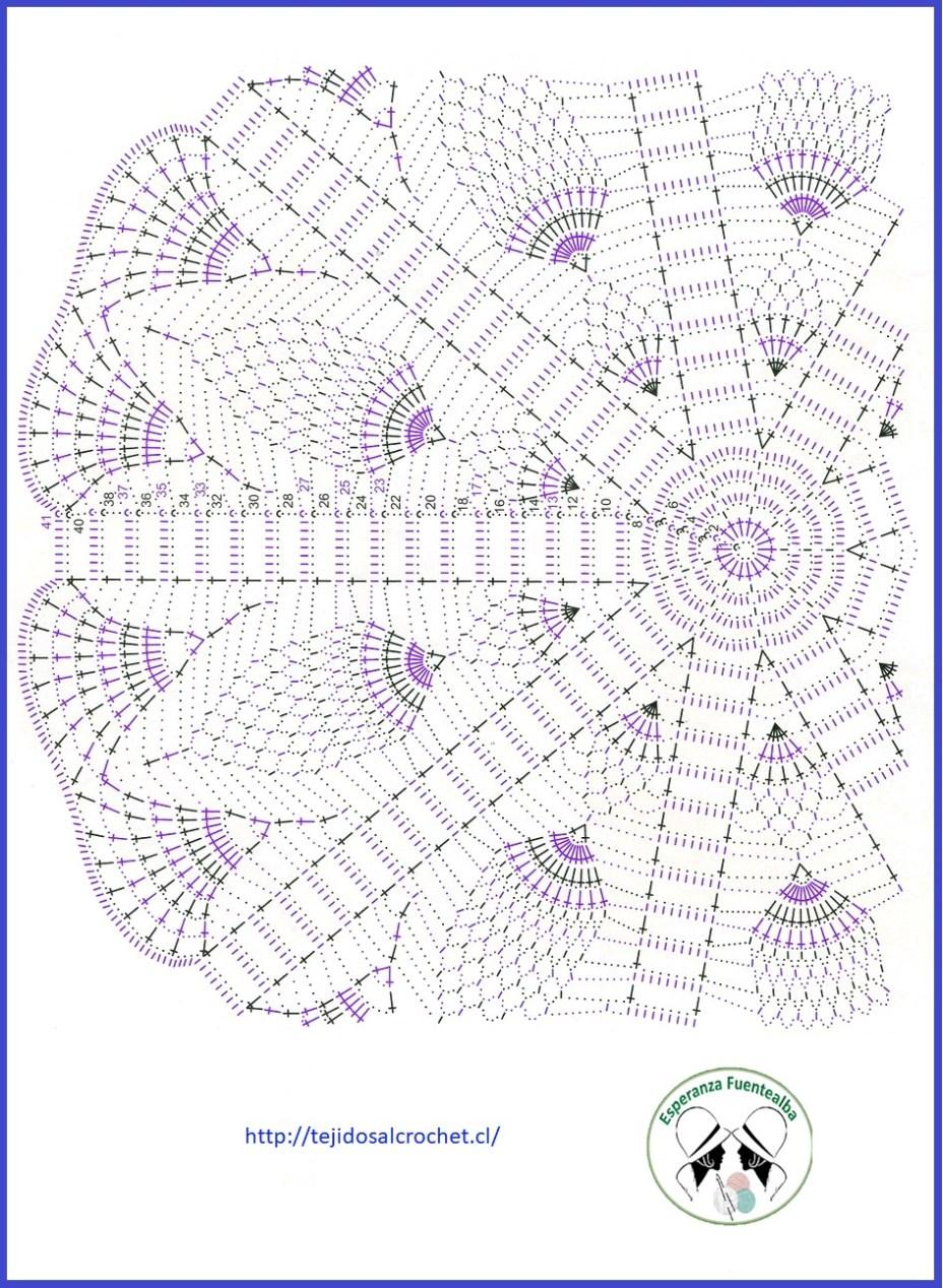 Tapete Croche Un Tapete De Ganchillo Original Con Esquema Simple -> Tapetes Para Sala Tejidos A Crochet