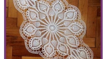 Tejido a crochet para mesa de centro