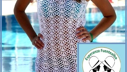 Vestido playa crochet patrón