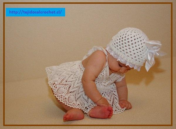 Vestidos tejidos para bebes crochet