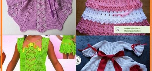 Vestidos tejidos para niña