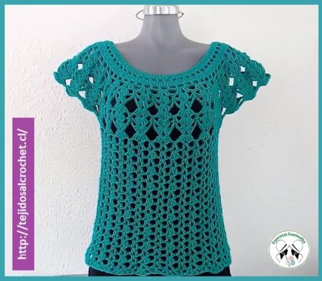 Blusas Tejidas A Crochet Paso A Paso Hermosa Y Muy Sencilla Blusa