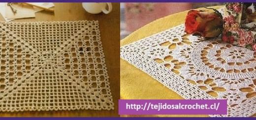 carpetas cuadradas a crochet