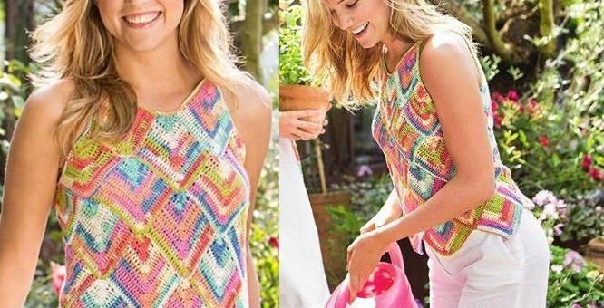 Blusas tejidas de colores