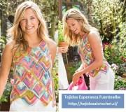 Blusas tejidas de colores. Una forma de tejer blusa para el verano