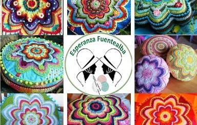 Cojines a crochet patrones