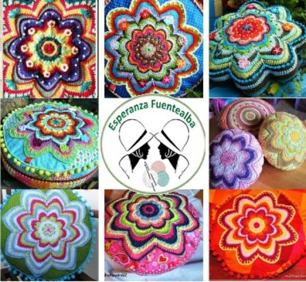 Cojines a crochet patrones. Increíble diseño de cojines tejidos en ...
