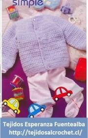 Crochet bebes. Hermoso abrigo de bebé para tejer con crochet