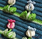 Crochet puntos fantasía. Un punto extraordinario para tejer colchas