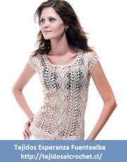 Patrones de blusas tejidas. Un diseño de blusa tejida con gancho