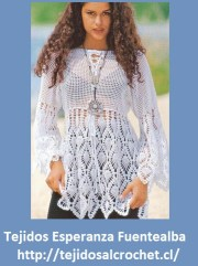 Patrones de blusas. Blusa increíble tejida al crochet