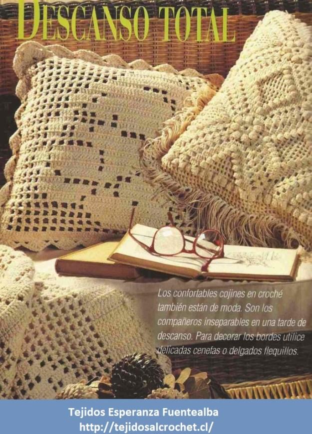 Patrones de cojines. Patrón de un cojín tejido con gancho