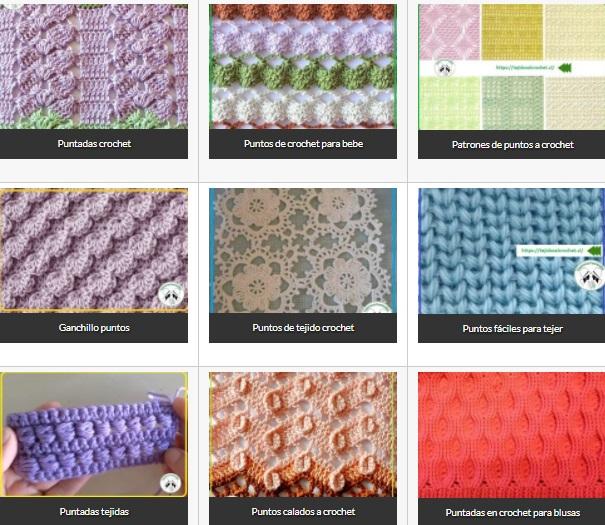 Puntos Ganchillo para disfrutar al máximo tejiendo Crochet
