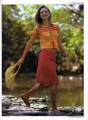 Revistas de tejidos. Revista con ropa de dama tejida con gancho