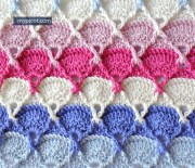 Tutorial hacer punto. Punto tupido para tejer en crochet. Vídeo explicativo