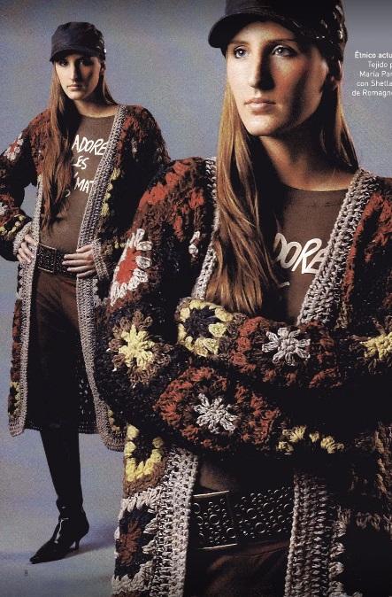 Abrigo etnico crochet
