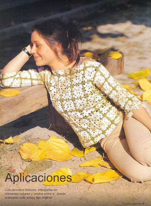 Blusa Crochet Motivos